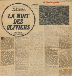 la nuit des oliviers